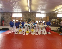 Image showing junior group from Kuonji Ju Jitsu, in dojo